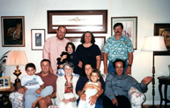 David Fontana (seated 2nd from left) and his family on September 7, 2001, four days before he died
