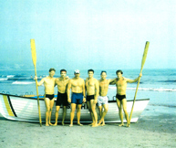 Dave Fontana (3rd from right) and lifeguard racing team at Newport, Rhode Island